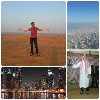 Some of Rhys' snaps in Dubai on his first trip
