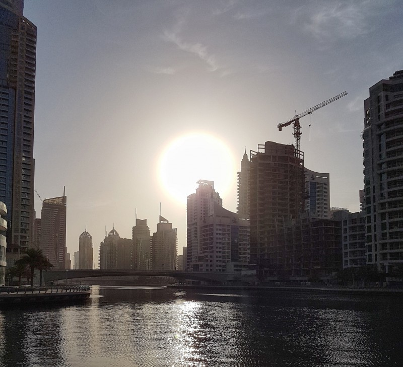 Sunrise on Dubai Marina