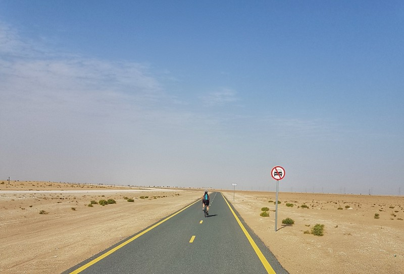 Cycling at Al Qudra